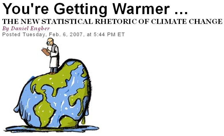 Read the article by Daniel Engber on IPCC's new statistical rhetoric